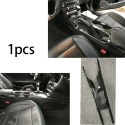 For Ford Mustang 2015-20 Replace Middle Console Drinking Glass Trim Carbon Fiber