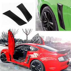 For 2015-2020 Ford Mustang Carbon Fiber Rear Side Leaf Plate Fender Trim 2pcs