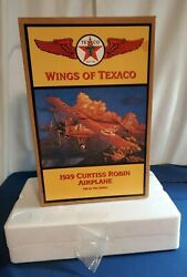 1929 Curtiss Robin Diecast Airplane Wings Of Texaco Coin Bank