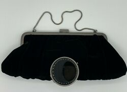 NWT Mary Kay Black Velvet Evening Bag with Compact Mirror and Dust Cover $6.99