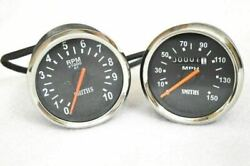 Black Smith Replica Speedometer Tachometer Pair 150 Mph For Royal Enfield