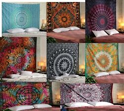 5 PCs Wholesale Lot Mandala Tapestry Queen Twin Size Wall Hanging Bedspread Dorm