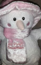 Baby Gund My First Snowman Plush Whimsy Wishes Carrot Original Tags Nos