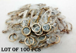 Magnifying Key Chain Ring Brass Antique Finish Lot Of 100 Pcs Handmade Gift