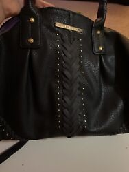 Steve Madden Black Bag Large Pre owned Excellent Condition $17.99