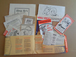Vintage 1949 Lot 11 Ralston Purina Tom Mix Coloring Book Recipe Advertising Diet