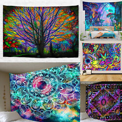 Psychedlic Mandala Hippie Bohemian Tapestry Wall Hanging Blanket Home Art Decor