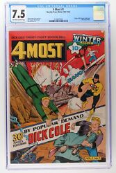 4 Most 1 - Novelty Press 1942 Cgc 7.5 - Origin Of Target Cadet And Dick Cole