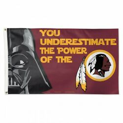 Washington Redskins Star Wars You Underestimate The Power Of 3'x5' Deluxe Flag