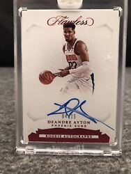 2018-19 Panini Flawless Deandre Ayton Rc Auto 04/15 Rookie Autographs Ra-day