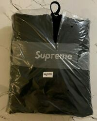 Supreme Box Logo Hoodie Pullover Black New Authentic Ss19