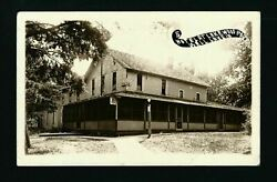 Wall Lake Iowa Ia 1914 Rppc Lakewood Park Hotel Bell Telephone Sign Wide Porch