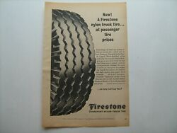 1965 Firestone Transport Nylon Truck Tires Vintage Ad From Private Estate--'65