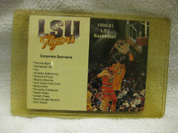 1990-91 Lsu Tigers Shaquille Oand039neal Basketball Pocket Schedule New