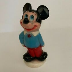 Rare Vintage Chalkware Coin Bank Carnival Game Prize Figurine Mickey Mouse
