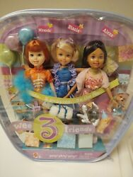 2004 Barbie Wee 3 Friends Party Party Party Stacie Miranda And Alexa Giftset