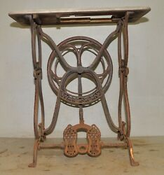 Antique Wilson Cast Iron Sewing Machine Treadle Base Collectible 1870's Tool