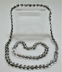 Rare Pair Of Hector Aguilar .940 Silver Handcrafted Necklaces 1950 Sublime