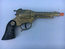 1950's Wyandotte Hopalong Cassidy 'gold' Cap Gun With Incised Grips