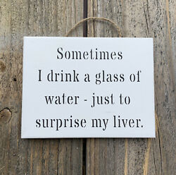 Funny Signs Small Gifts For Men Drinking Sign 15cm x 12cm Australian Made
