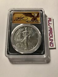 2019-w Pcgs Sp70 Burnished Silver Eagle. Thomas Cleveland Scroll. Edition 10,000