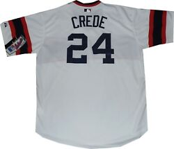 New Tags Chicago White Sox Joe Crede Throwback Authentic Tb62 Jersey Size 52