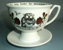 Hendricks China Gin Cup And Saucer- Lovely Condition Unusual Piece