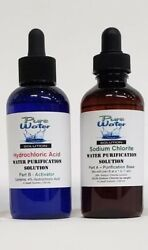Water Purification Solution - Chlorite Naclo2 And Hydrochloric Acid 4 Oz Cds