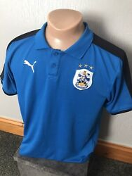PUMA HUDDERSFIELD TOWN FOOTBALL POLO SHIRT ADULT SIZE LARGE ENGLAND THE TERRIERS