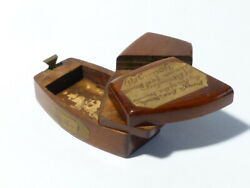 1917 Bramley Union Workhouse Puzzle Box Mahogany And Brass Gift To Nurse Young
