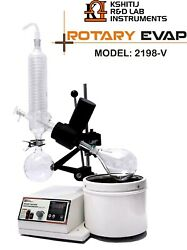 Rotary Vacuum Evaporator Complete Glass Parts Led Display 2198 Vertical 1 L