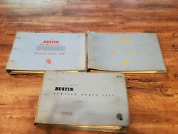 Lot Of 3 Vtg Austin Service Parts Lists In Binders - Cambridge Countryman A99 +
