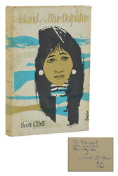 Island Of The Blue Dolphins Scott O'dell Signed First Edition 1st Print 1960