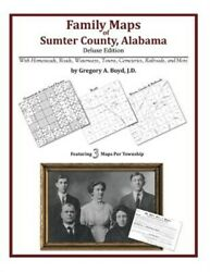Family Maps of Sumter County Alabama Deluxe Edition Like New Used Free sh...