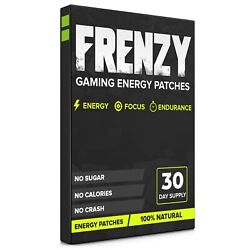 Frenzy Gaming Energy Patches - Energy Focus And Endurance Patch 30 Day Supply