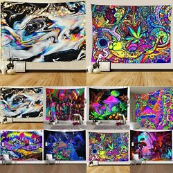 Psychedelic Abstract Tapestry Wall Hanging Home Wall Decor Hippie Bedspread US