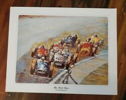 Ron Burton's Collector's Prints - Lot Of 4 - 14 X 11 - The First Turn, Al Unser