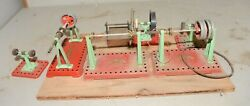 Mamod Collectible Tools Tin Toy Vintage England Buffer Grinder Line Shaft Lot