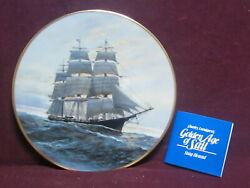 Fleetwood 1981 Stag Hound 9 Golden Age Of Sail Ship Ltd Ed Plate W/box