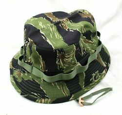 Reproduction US Vietnam War Tailored 2quot; Shooter#x27;s Brim Tiger Stripe Boonie Hat