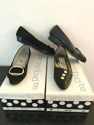 Joan and David Too Vintage Black Suede Patent Dress Shoes Lot of THREE 3 Pairs $49.50