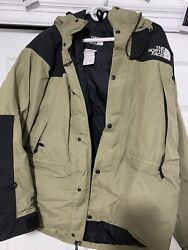 The North Face Green Black Poly Men's Puffer Stand Collar Winter Jacket Size L $50.00