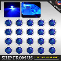 20x Blue Marine Boat Navigation Light Led Updated Stainless Stern Anchor Lights