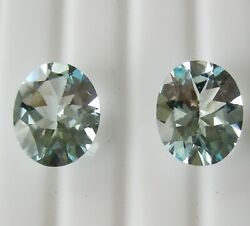 8.85ct Matching Pair Aquamarines Expertly Faceted In Germany + Cert Included
