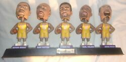 Vintage Nba Lakers Bobbleheads On Stand Looks Nice Hard To Find Has Light Wear