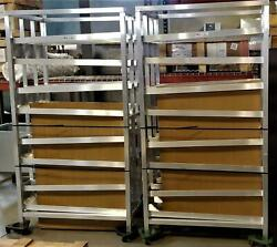 One New Age 97294 79 Stationary Can Rack 156 10 Capacity Adjustable Feet Cv