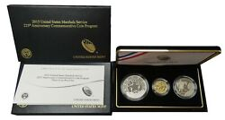 2015 Us Marshals Service 225th Anniversary 3 Coin Set With Box And Coa - Bmaax