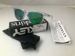 Oakley Frogskin Crystal Clear w Jade Iridium Good conditon $75.00