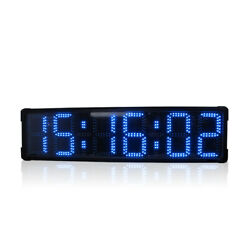 Large Blue Led Digital Outdoor Race Clock Time Trial Timer Big Stopwatch Timing