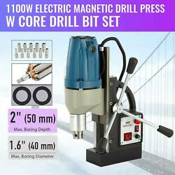 Max 2 Depth 1.6 Dia 1100w Electric Magnetic Drill Press Magnet Force Tapping